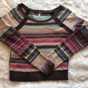 Free People Multicolored Stripe Sweater